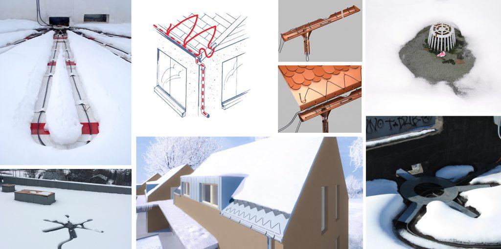 zastita od sneg i mraz greaci vo oluci, greaci na krovovi, топење на снег и мраз, одмрзнување на кров и олуци
